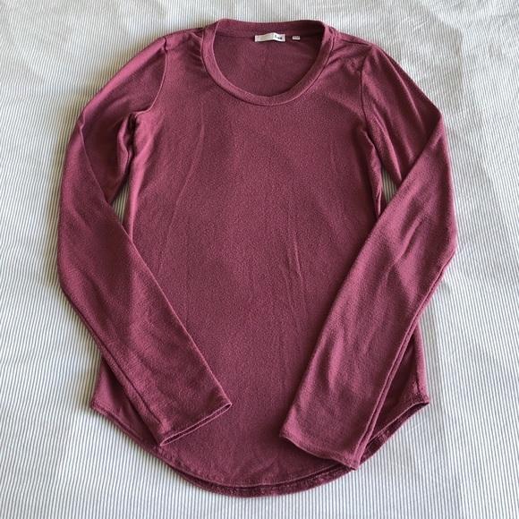 Aritzia Wilfred Long Sleeve Pink Top